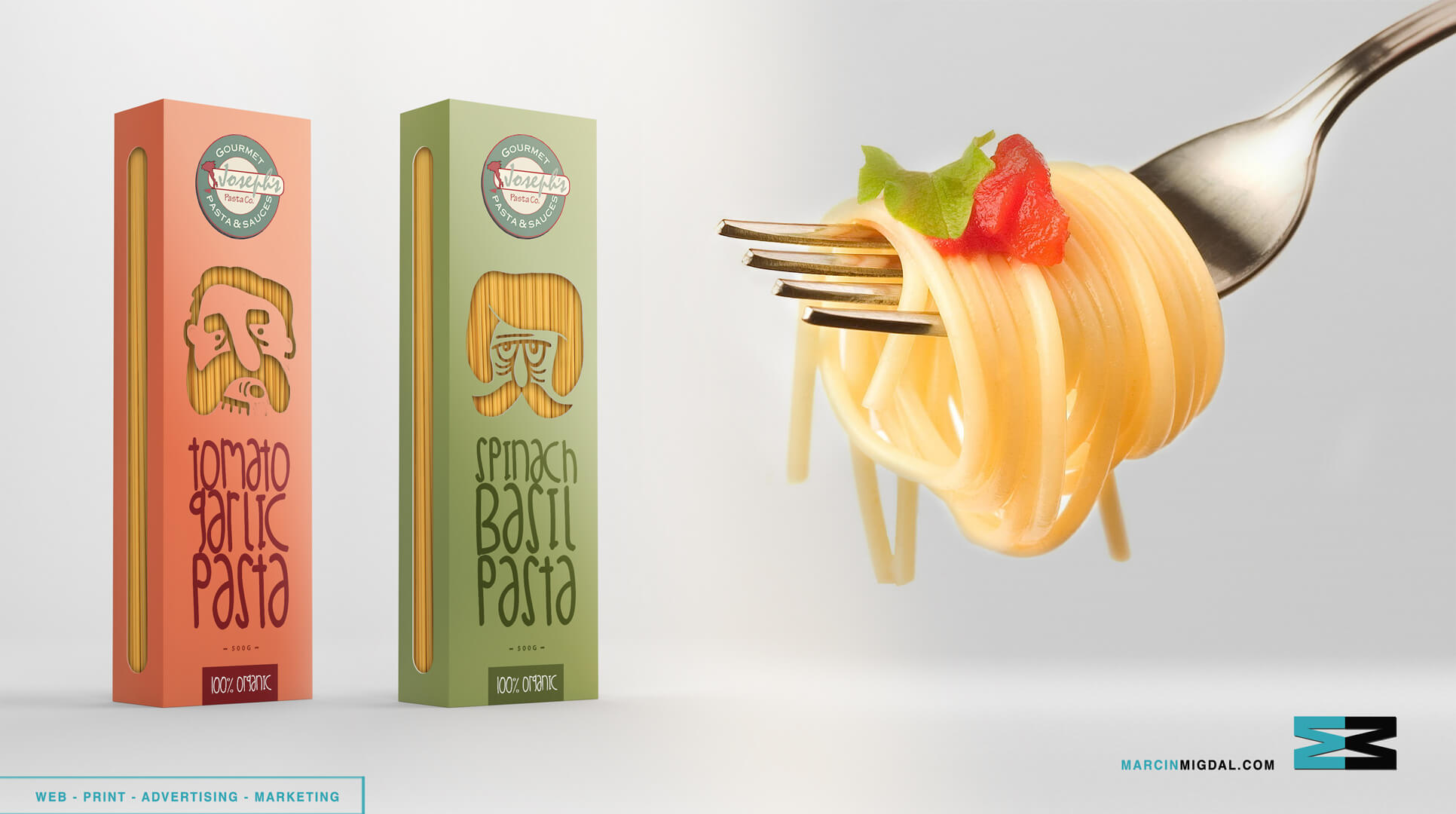 Pasta Boxes Concept by Marcin Migdal