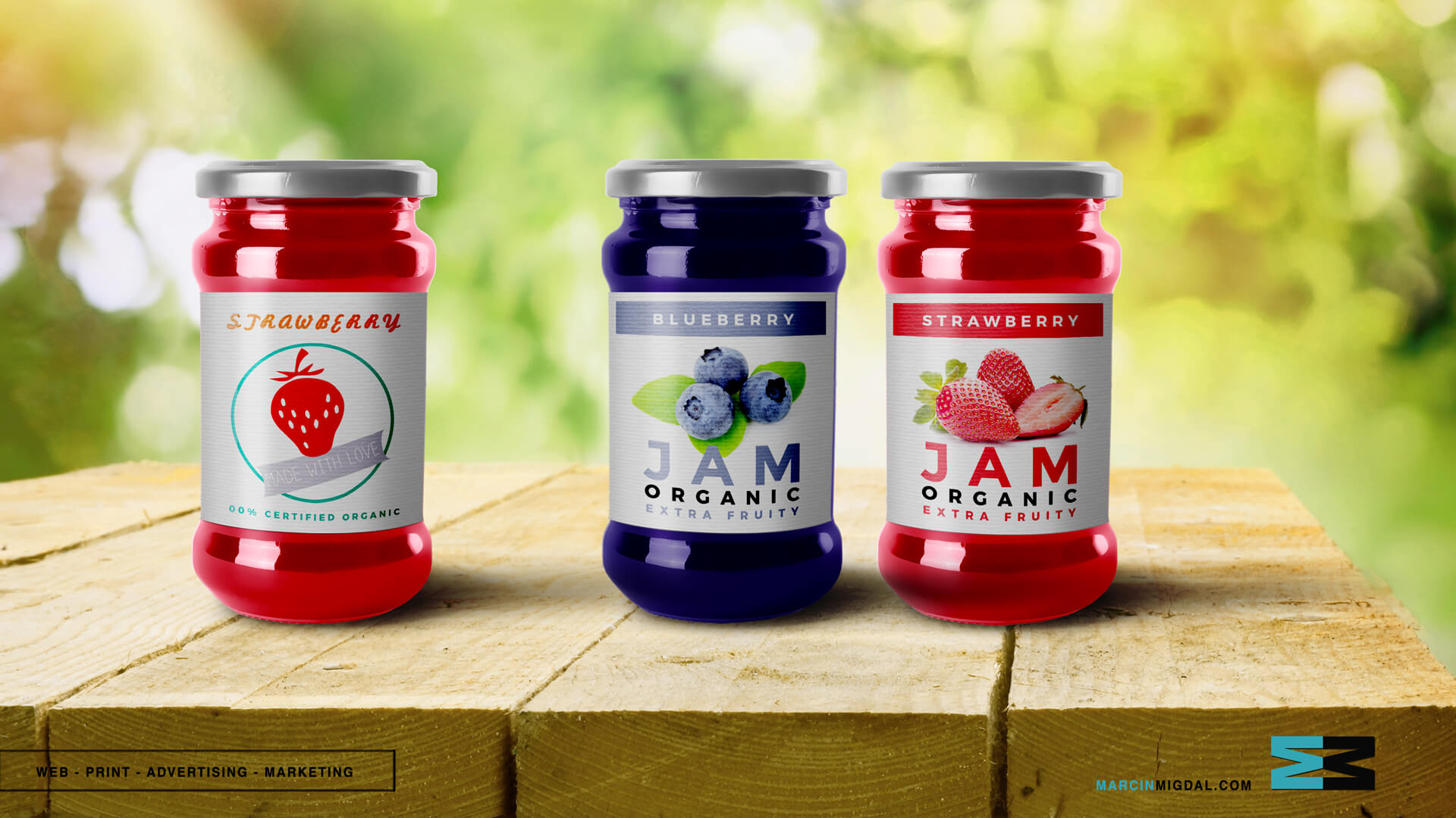 Jam - Food Packaging Design by Marcin Migdal
