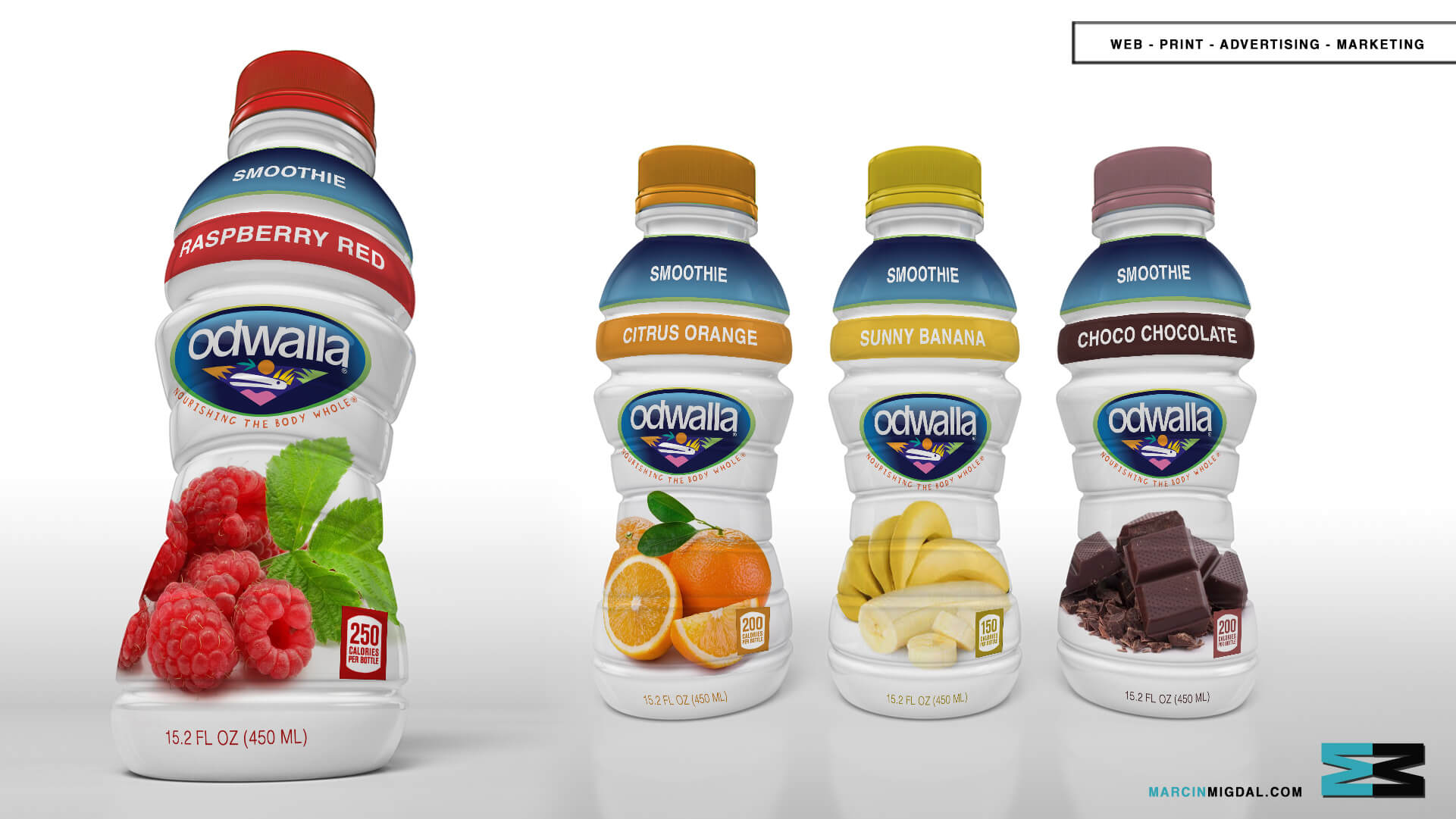 Odwalla - Beverage Packaging Design by Marcin Migdal