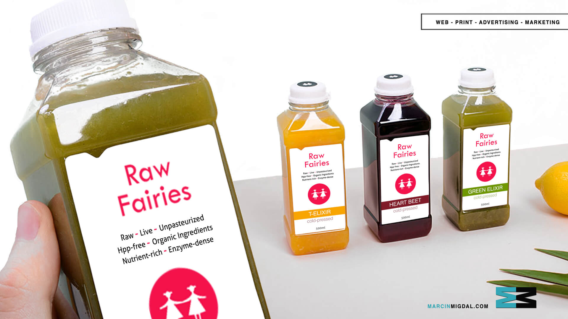 Raw Fairies - Beverage Packaging Design by Marcin Migdal